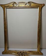 "Vintage Art Deco Art Nouveau Style Gilded Gold Framed, Gesso & Wood, 11"" x 15"""