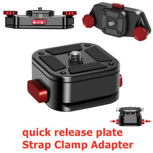 Claw Quick-Release Plate tripod mount adapter For DSLR Gopro Action Camera Strap