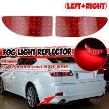 For Lexus IS250 IS350 Sedan 2006-2013 Red Lens LED Rear Bumper Brake Light Lamps