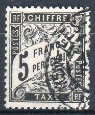 "FRANCE STAMP TIMBRE TAXE N° 24  "" TYPE DUVAL 5F NOIR "" OBLITERE TB A VOIR  P199"