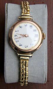 Damenarmbanduhr 585 Gold um 1900