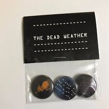 Dead Weather Dodge & Burn - Button Badges - Third Man Jack White - Not A Record
