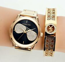 Original Michael Kors Uhr Damenuhr MK3647 Hartman Farbe:Gold/Schwarz NEU!