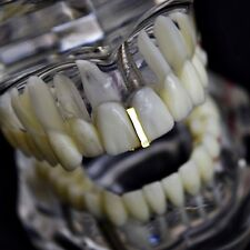 Gap Grillz 14k Gold Plated Single Plain Tooth Top or Bottom Teeth Hip Hop Grills