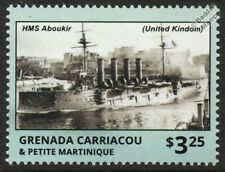 HMS ABOUKIR Cressy-Class Armoured Cruiser WWI Royal Navy Warship Stamp