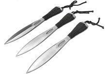 "Set of 3 7.5"" Tactical Sharp Point Silver Throwing Knife Arm Sheath Ninja Kunai"
