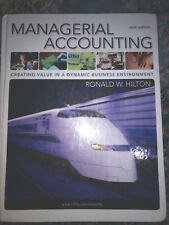 Managerial Accounting by Hilton, Ronald 9th ed 2011 Hardcover