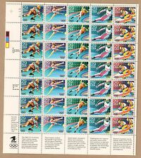 {BJ Stamps}  2611-2615  Winter Olympics.   MNH  29¢ Sheet of 35.  Issued in 1992
