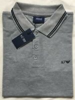 Men's Armani Jeans Collared Short Sleeve Grey T Shirt Size-Small RRP£85