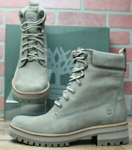Timberland Women's Courmayeur Valley Yellow Boot Taupe Nubuck TB0A1RQX929 Sz 9.5