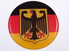 German Flag Eagle Emblem domed decal Car sticker Deutschland Germany  78mm