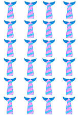 24 x Mermaid Tails Tail Edible Cupcake Wafer Paper Cake Toppers (N2)