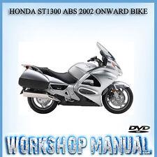 HONDA ST1300 ABS 2002 ONWARD BIKE WORKSHOP REPAIR SERVICE MANUAL IN DVD