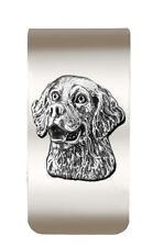 New Antique Pewter Golden Retriever 3D Money Clip Dog - TOO COOL! CR