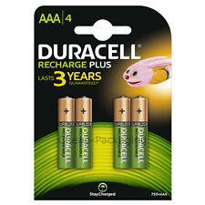 Duracell Recharge Plus AAA Batteries NiMH 750mAh/1.2V 4 Pack