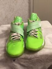 Nike Zoom Kd 4 IV Neon Green Nike ID Size 12 Preowned Kevin Durant NBA