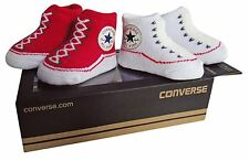 0357194015d Converse Baby Bootie Socks Gift Box - Red   White - 2 Pack