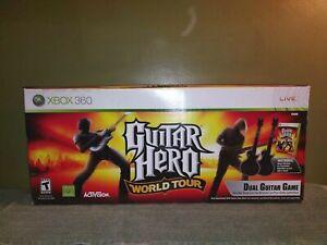 Guitar Hero World Tour (XBOX 360) Dual Guitar Game Bundle