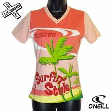 O'NEILL BOARD BABES 'HAWAII TEE' WOMENS T-SHIRT PINK 10 12 14 SURF BNWT RRP £30
