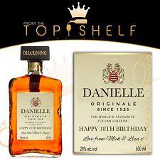 personalised Dissaronno amaretto bottle label replica birthday any occasion