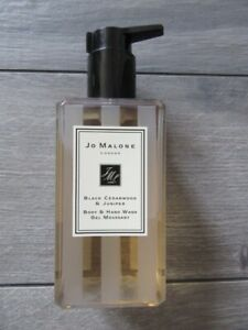 JO MALONE BLACK CEDARWOOD & JUNIPER BODY HAND WASH GEL MOUSSANT, NEW, 8.5 FL OZ