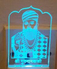LED Guru Nanak Night Light Lamp Colour Changing soft light Religious Sikh Gift