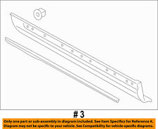 Lincoln FORD OEM 2016 MKX Front Door-Lower Molding Trim Right FA1Z5820878BA