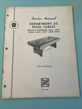 1964 Montgomery Ward Pool Table Manual CRS-6069