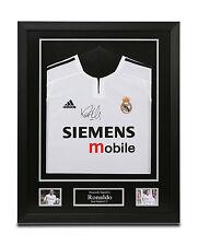Ronaldo Signed Real Madrid Shirt Framed Autograph 03/04 Jersey Memorabilia + COA