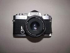 Konica Autoreflex T3, Hexanon 52mm F 1.8 ar, además de Lentes Y Teleobjetivo y el caso