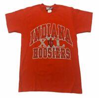 Vintage Indiana Hoosiers Mens T Shirt Medium M Red USA College Football