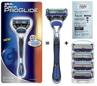 🔥  5 Gillette Fusion ProGlide Rasierklingen 4+1 mit Proglide Rasierer Set 🔥
