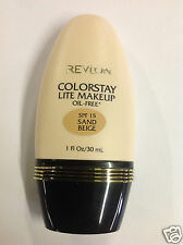 Revlon Colorstay Lite Oil Free Spf 15 Makeup Foundation Sand Beige 1 Oz / 30 Ml.