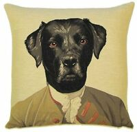 """NEW 18"""" MR BLACKWELL ARISTODOGS BELGIAN TAPESTRY CUSHION COVER WITH ZIP 278"""