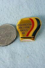 HOT AIR BALLOON PIN COSHOCTON BALLOON RACES 1989