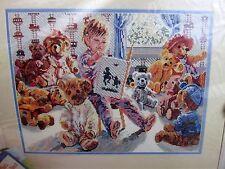 Bucilla Poo's Story Cross Stitch Kit 41182 Child Reading Teddy Bears 11x15