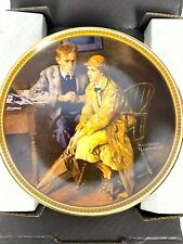 Norman Rockwell's Confiding In The Den Collector Plate by Knowles