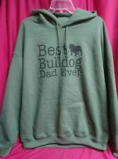 Best Bulldog Dad Ever Sz XL Gildan Hoodie Sweatshirt