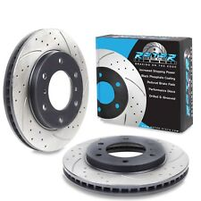 FRONT DRILLED GROOVED 294mm BRAKE DISCS FOR MITSUBISHI L200 2.5 DI-D 4X4 06+