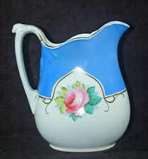 BEAUTIFUL PRATT AND SIMPSON JUG / PITCHER - HANDPAINTED WITH ROSES - 1878
