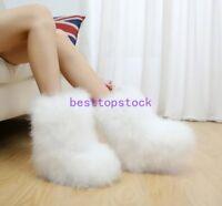 Ostrich fur Women Winter Long Boot Eskimo Hair Fluffy Boots Sexy hot Furry Boot