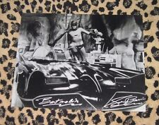 Rare GEORGE BARRIS signed 11x14 photo autograph BATMOBILE Adam West Batman cave