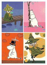 Moomin Tarjeta Postal Juego de 4 Karto Pappa Snufkin Troll