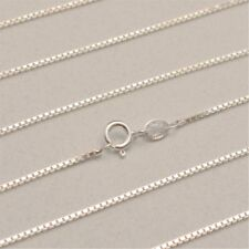 20 Inch Italian Solid 925 Sterling Silver 1.1mm Box Chain (CS103-20)