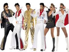 Elvis Presley Costume Ladies Mens Elvis 1960s Fancy Dress Rockstar Elvis