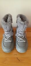MARKS AND SPENCER GREY FUR LINED BOOTS. SIZE 4. NEW.
