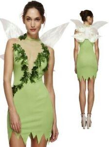 Adult Magical Fairy Tinker Womens Ladies Fancy Dress Costume Fairytale Uk 8-18