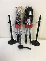 Monster High Doll Were Cat Werecat Twins  Meowlody Purrsephone Signature Lot EUC
