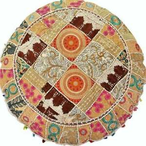 Meditation Cushion Round Floor Pillow Cover Boho Hippie Home Décor Floor Cushion