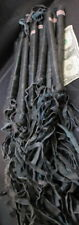 "WHOLESALE LOT 12 LEATHER RIDING CROPS WHIPS BLACK CAT N NINE TAIL 18"" of 9 O and"